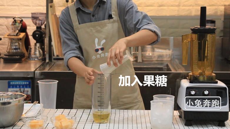 喜茶芝士哈密瓜的做法——小兔奔跑奶茶教程的做法图解