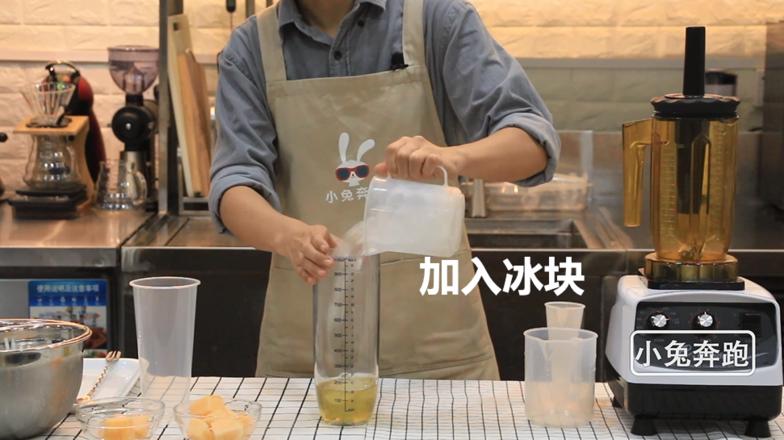 喜茶芝士哈密瓜的做法——小兔奔跑奶茶教程的家常做法