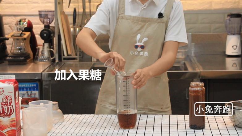 奈雪的茶厚厚生巧黑珍珠的做法——小兔奔跑奶茶教程怎么炒