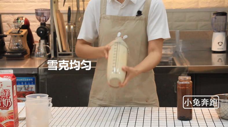 奈雪的茶厚厚生巧黑珍珠的做法——小兔奔跑奶茶教程怎么煸