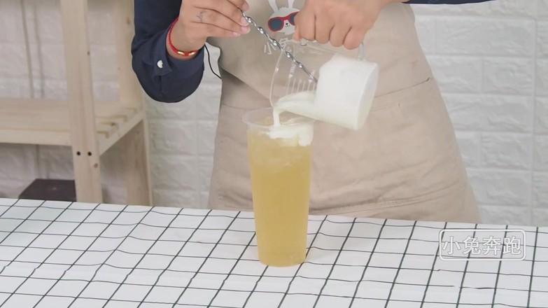 芝士茉莉绿茶的做法——小兔奔跑奶茶培训怎么炒