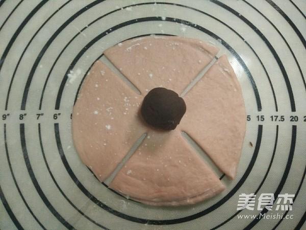 粉色玫瑰花面包怎么做