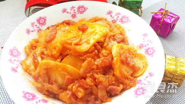 韩式炒年糕成品图