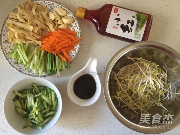 杂蔬拌豆皮的简单做法
