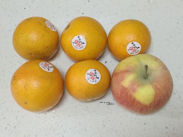 橙子苹果汁的步骤