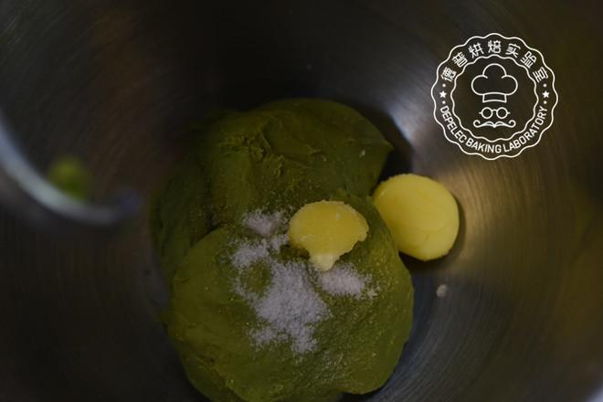 欧式抹茶红豆面包的家常做法