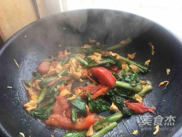 西红柿鸡蛋青菜面(家常)怎么炒