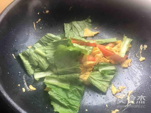 西红柿鸡蛋青菜面(家常)怎么做