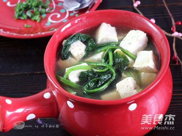 菠菜豆腐汤怎么煸