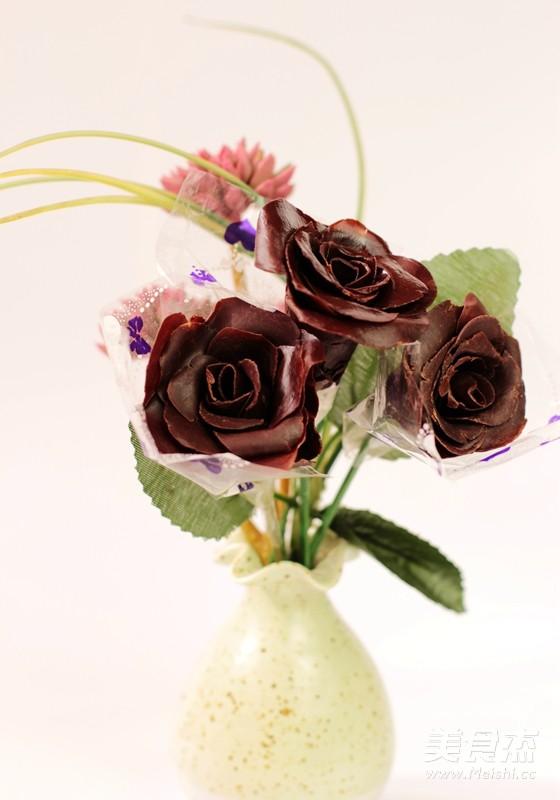 巧克力玫瑰花怎样煮