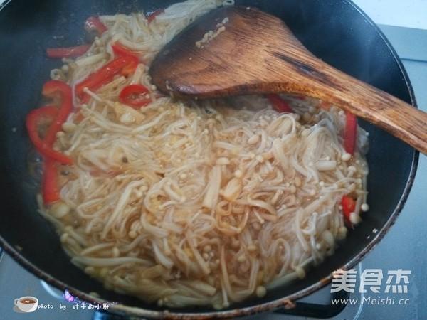 金针菇炒肉丝怎么煮