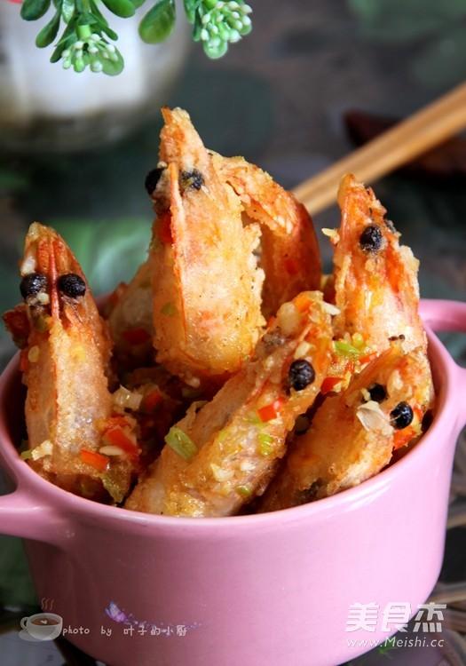 椒盐虾成品图