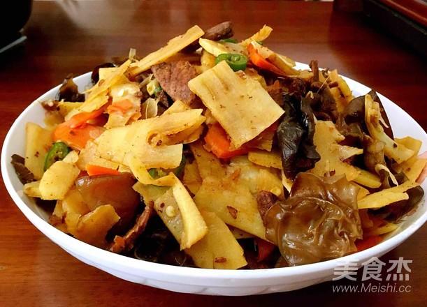 冬笋炒肉成品图