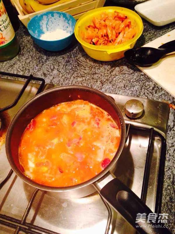 番茄海鲜浓汤怎么炒