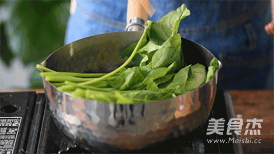 芝麻酱拌菠菜的做法图解