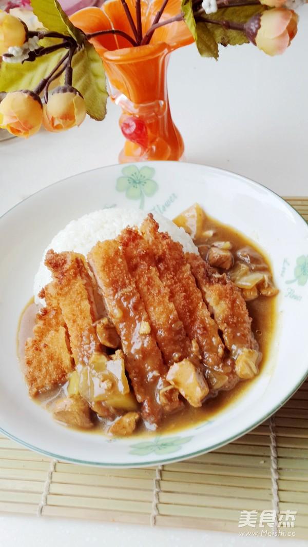鸡肉咖喱猪排饭怎么做