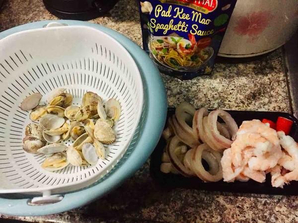 罗勒酱海鲜意面怎么吃
