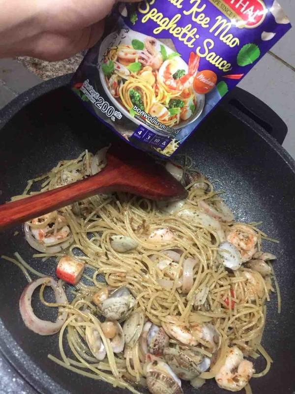罗勒酱海鲜意面怎么煮