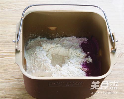 奶香浓郁紫薯面包的做法图解