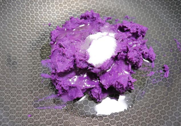 紫薯小花面包怎么吃