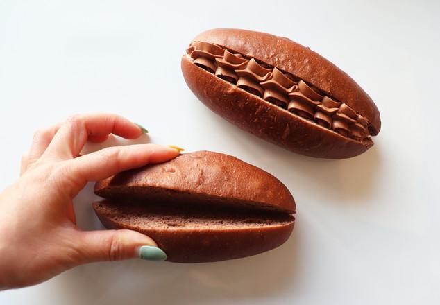 """东京""""365日""""面包店同款,巧克力脆脆珠面包!的步骤"""