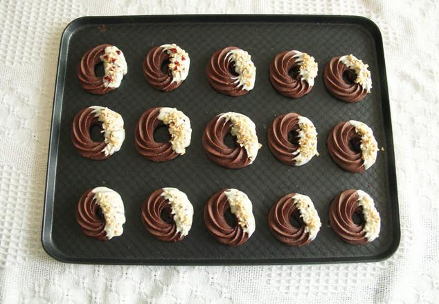 超酥脆巧克力花环曲奇,香得不要不要哒~的步骤