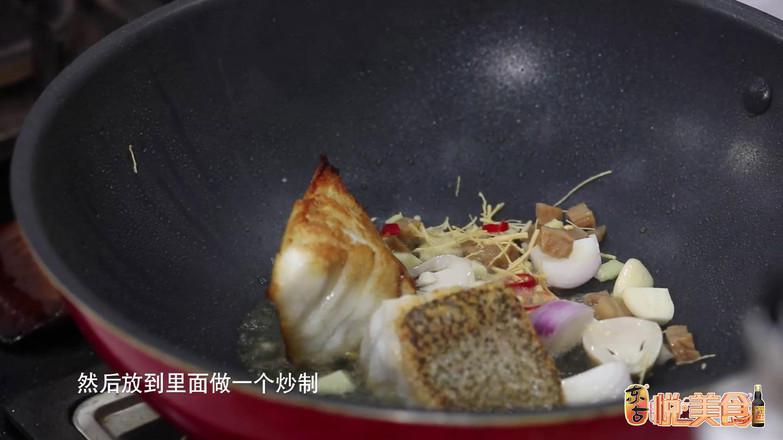 鲜人参豆瓣煎煮石斑鱼的家常做法