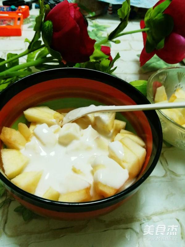 苹果酸奶沙拉的步骤