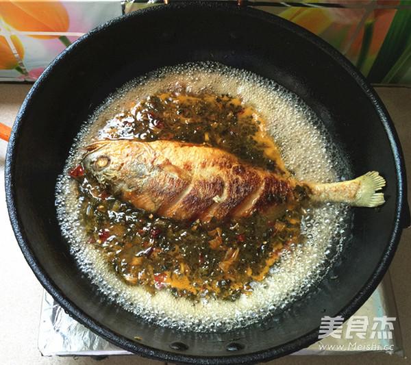 腌菜烧大黄鱼怎样煸