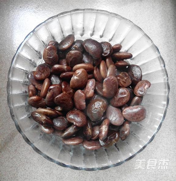 葱香豉油花肾豆的步骤