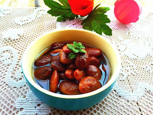 葱香豉油花肾豆成品图