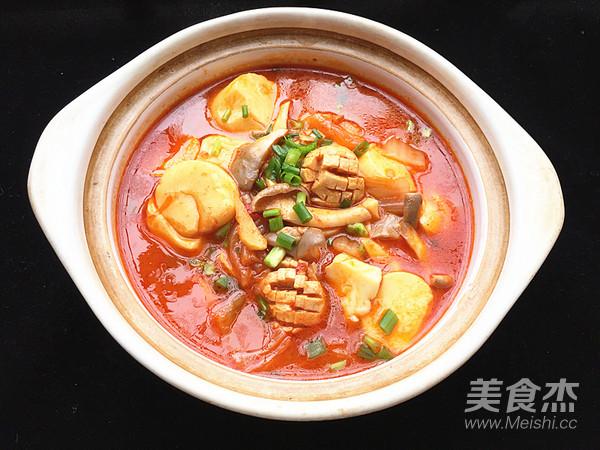 辣白菜杂锅成品图