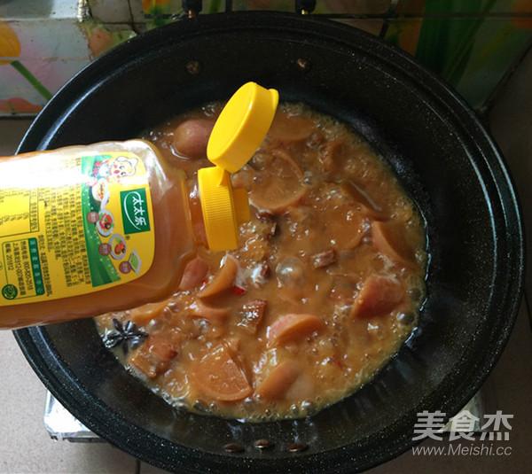 红皮萝卜焖腊猪腿肉怎样炒