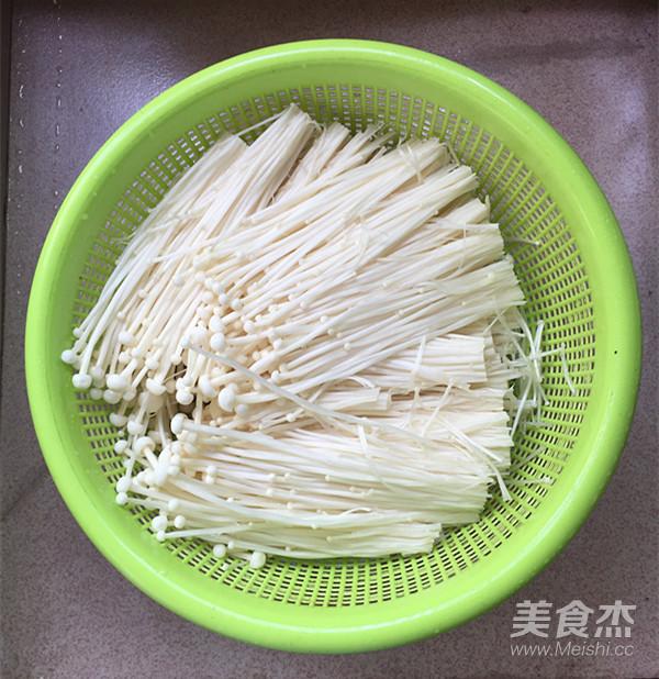 剁椒蒸金针菇的家常做法