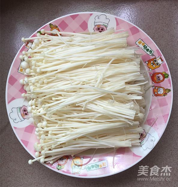 剁椒蒸金针菇的简单做法