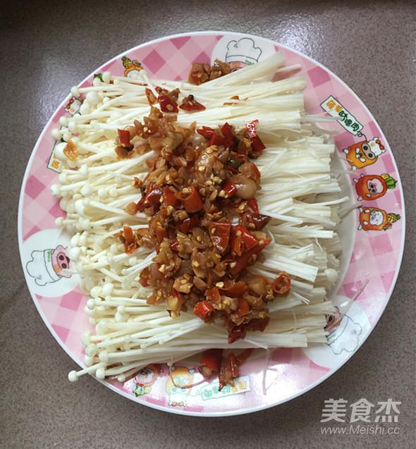 剁椒蒸金针菇怎么吃