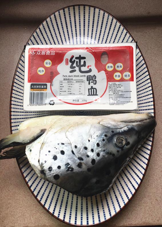 红酸汤三文鱼头鸭血煲的做法大全
