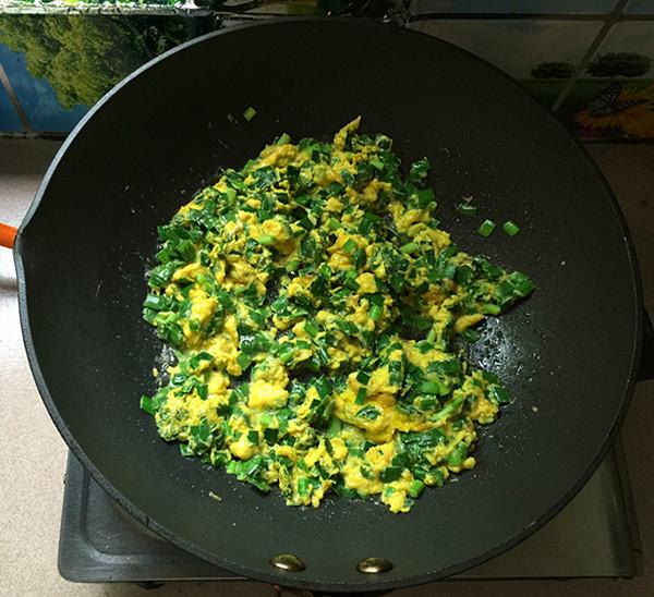 韭菜鸡蛋炒磷虾怎样炒