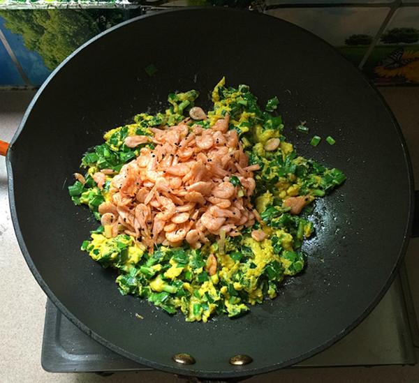 韭菜鸡蛋炒磷虾怎样煮