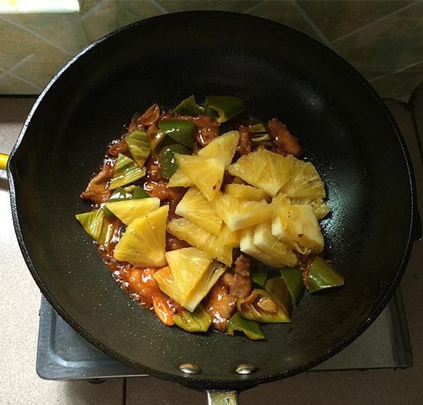 菠萝肉片的制作