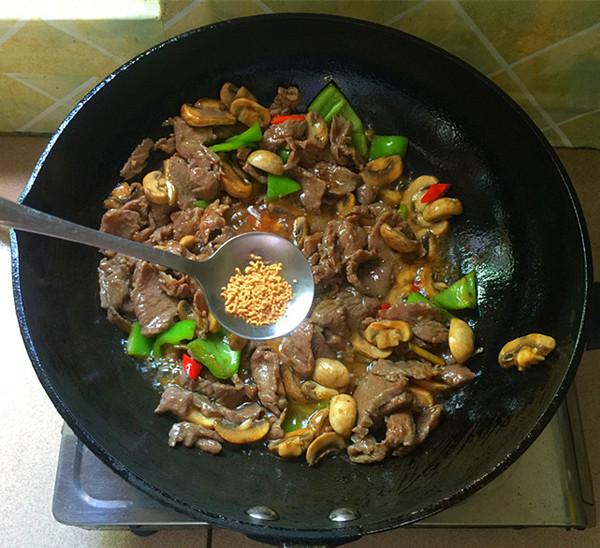 口蘑炒牛肉#午餐#怎样炖