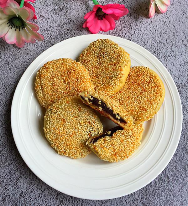 红薯豆沙饼成品图