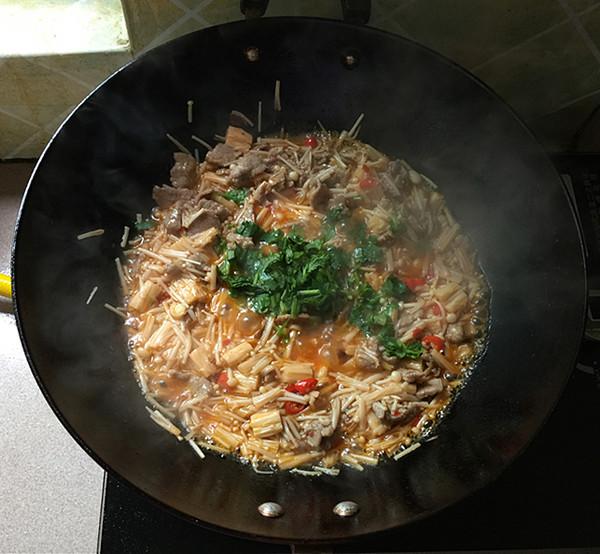 金针菇炒牛肉怎样做