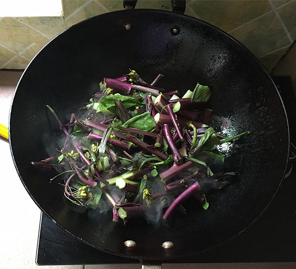 酸辣红菜苔怎么吃