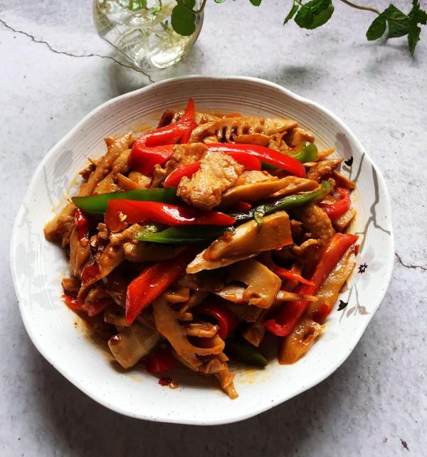 春笋炒瘦肉成品图
