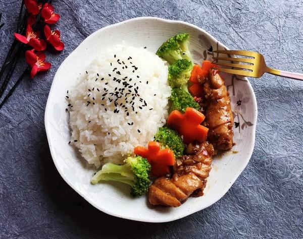 低脂鸡肉饭的步骤