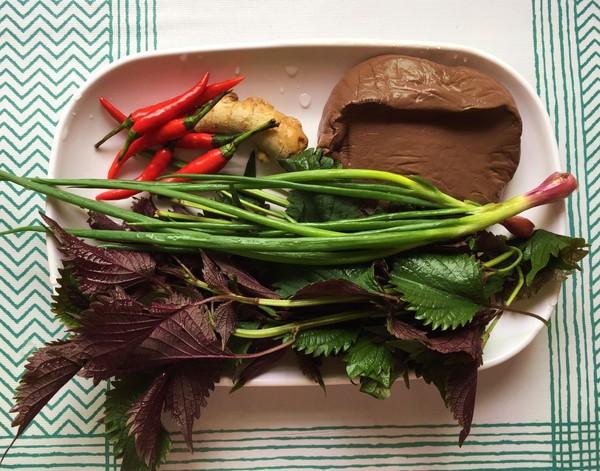 紫苏焖鸭肉的步骤