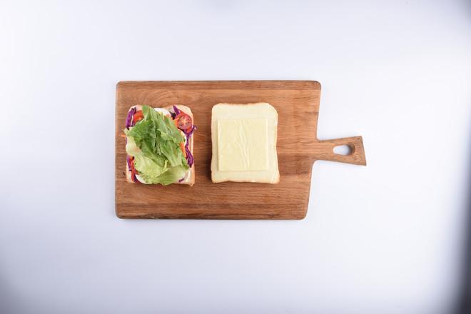 超厚的沼三明治的步骤