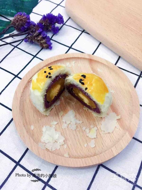 蛋黄酥(奶香紫薯馅)的做法大全