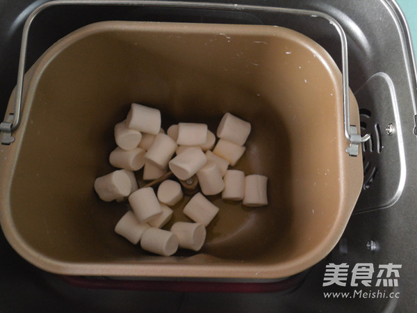 面包机版—可可花生牛轧糖的做法图解